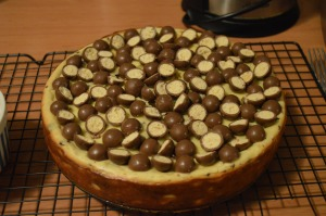 Ridiculous baked Maltesers Cheesecake